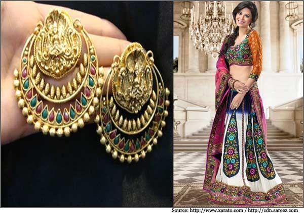 Ram Leela Earrings Collection   Deepika Padukone, Pearl Earrings