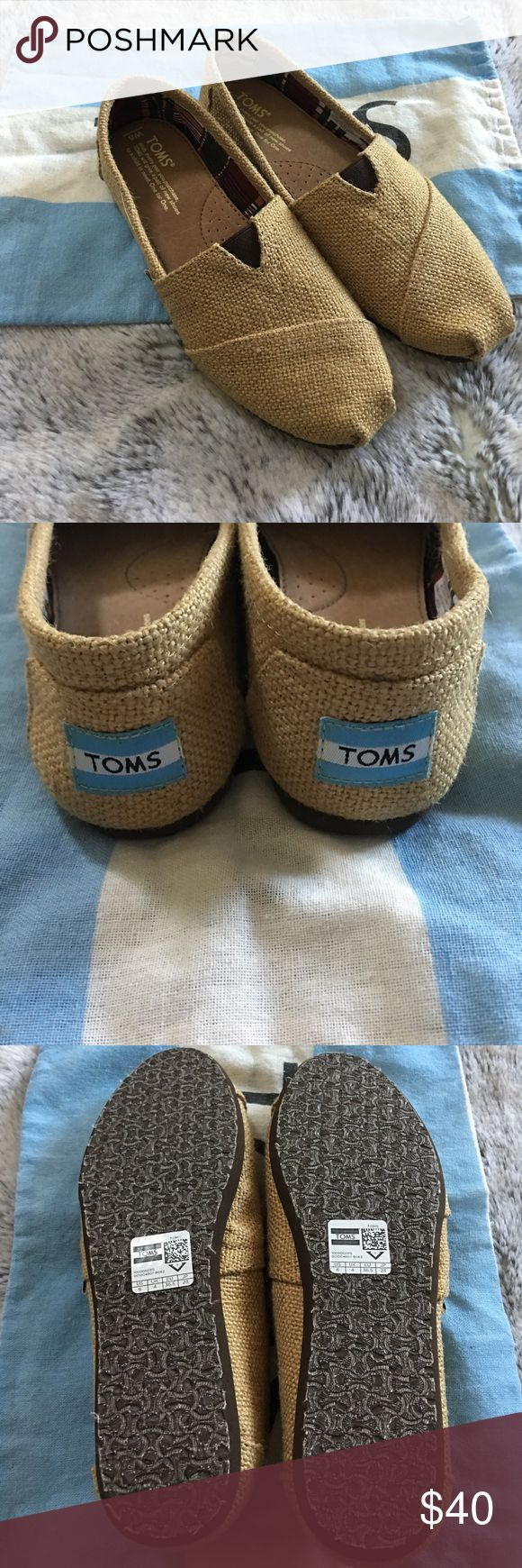Natural Burlap TOMS New! Natural Burlap TOMS. Size 6. Comes with TOMS bag. No box. TOMS Shoes Flats & Loafers