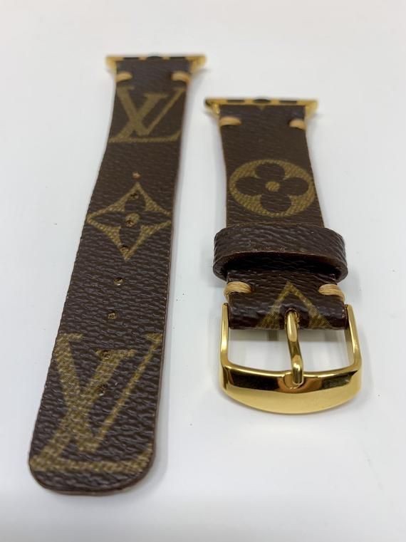 cf7b7a4320b6 LV, apple watch series 4 bands, UPCYCLED Louis Vuitton Apple Watch Band, Apple  Watch Band 40mm, 44mm, Apple Watch Series 4 - Apple in 2019 | Products ...