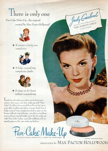 Judy Garland for Max Factor Cosmetics' Pan-Cake Make-Up ...