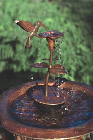 Bird Baths And Fountains Birds With Moving Water In