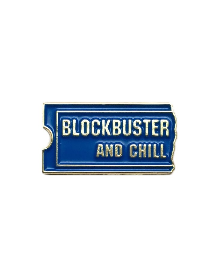 Blockbuster and Chill pin from @pinship  Date night for those old enough to remember the pre-Netflix days... Buy it through their link in bio!