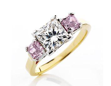 Pink diamond argyle diamonds in princess cut | Holloway Diamonds