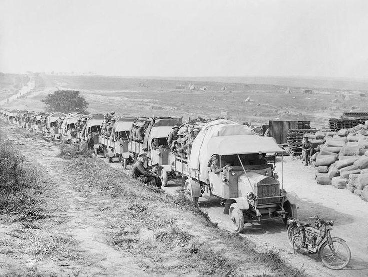 3-6 September 1916. Battle of Guillemont. Pictured, 16th Irish Div going back for rest after taking Guillemont.