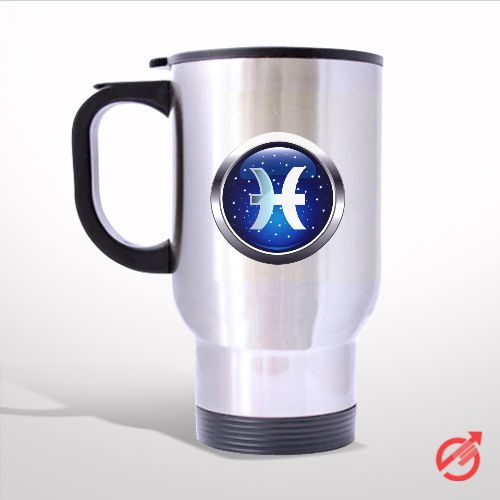 Zodiac Pisces Travel Mug
