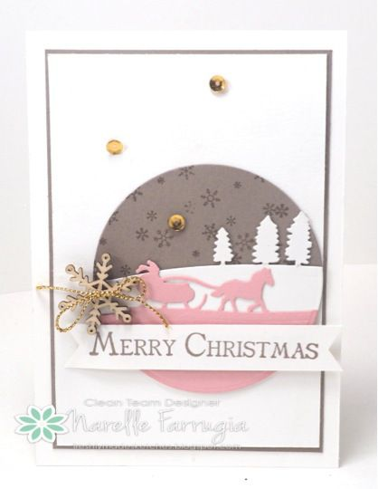 FMS211 - SU - Christmas - MANY MERRY MESSAGES, SLEIGH RIDE THINLITS, SNOWFLAKE ELEMENTS, STAMPIN UP