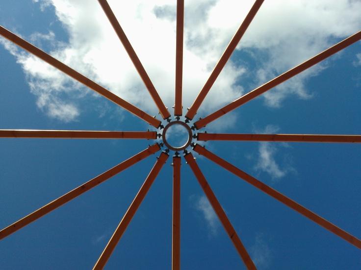 vue de la toiture du Wazu