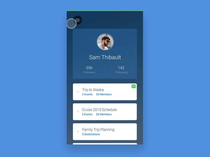 App Circle Navigation / Sam Thibault