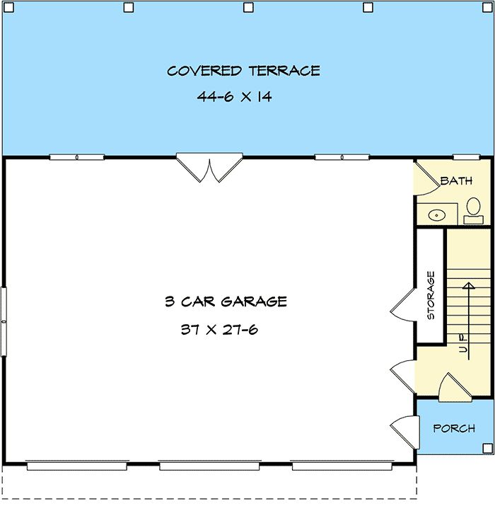 Plan 36057DK: 3 Bay Carriage House Plan With Shed Roof In