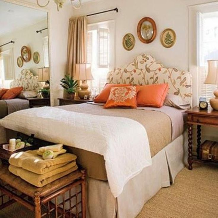 cozy guest bedroom decor with stylish floral curvy headboard and wooden side table perfect guest bedroom - Decorating Ideas For Guest Bedrooms