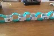 Number the links of a paper chain to show the relationship between even/odd numbers and counting.