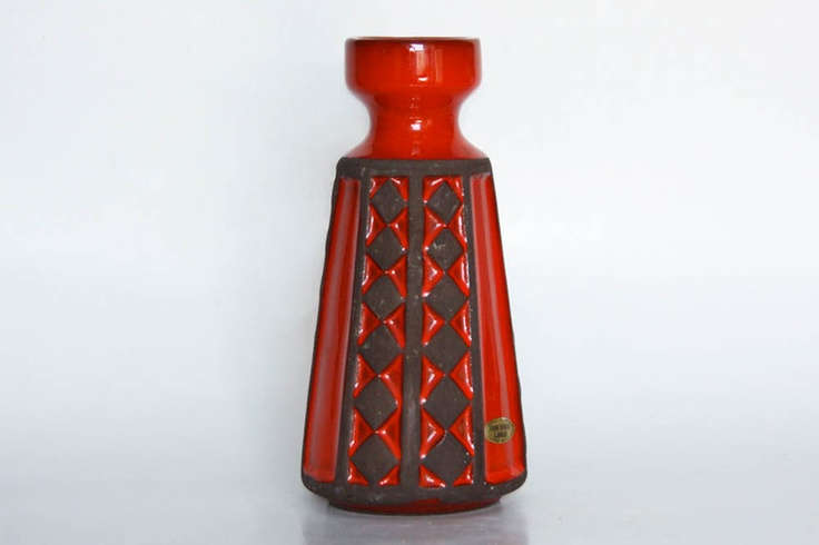 Vintage Danish Ceramic Red Vase - Frank Keramik. $72.00, via Etsy.