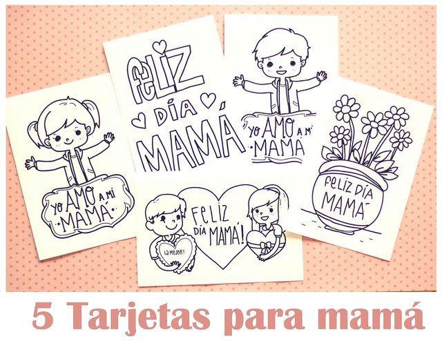 Día de la madre: regalos, recetas, imprimibles y frases para mamá: Tarjetas Imprimibles del día de la madre