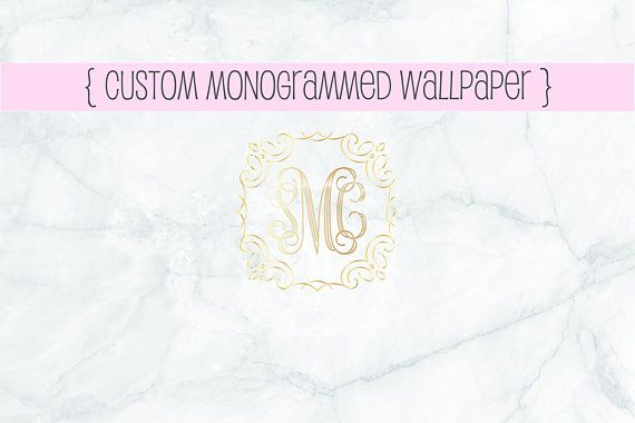 {Custom gold foil monogrammed wallpaper made to order}  Please message me with your initials, email address and any custom requests or questions!  Initials should be sent in the following format: first - A middle - B last - C ...............................................................................................................  Thank you so much for visiting my shop, come back soon to see new listings!  I hope you have a blessed day! ♡    Contact me! hello@wellandorganized.com