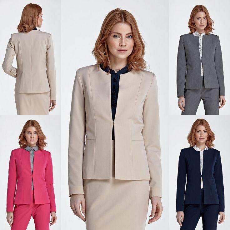 Veste de tailleur costume femme fermeture 1 bouton mode NIFE S M L XL 2XL