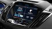 The 2015 Escape Titanium shown with available Audio System from Sony® and available SYNC® with MyFord Touch.®