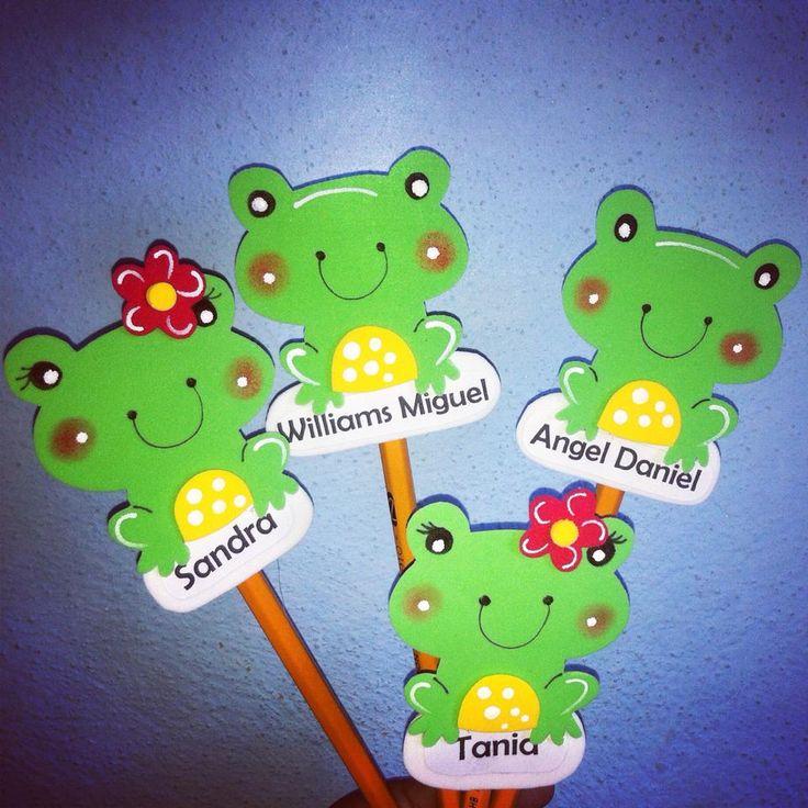 Manualidades para decorar los lapices de nuestros alumnos DEJAMOS PLANTILLA