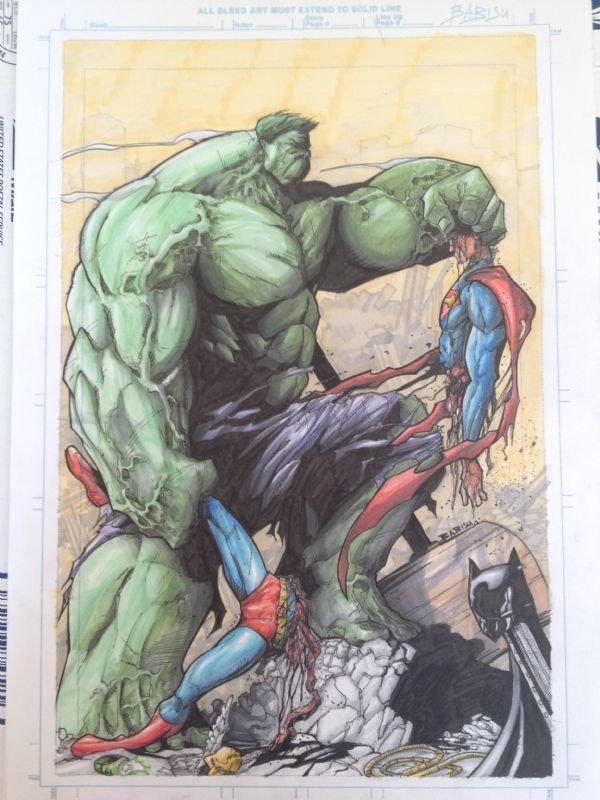 #Hulk #Fan #Art. (Hulk vs Superman) By: BabisuKourtis. (THE * 5 * STÅR * ÅWARD * OF: * AW YEAH, IT'S MAJOR ÅWESOMENESS!!!™)[THANK Ü 4 PINNING!!!<·><]<©>ÅÅÅ+(OB4E)   https://s-media-cache-ak0.pinimg.com/564x/76/70/6f/76706ff3c7741be7c3d538442e06c366.jpg