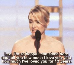 Kate and Leo belong together...i cried too when she said this. I literally ship them so hard it's not even funny.