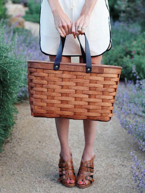 Vintage meets modern picnic basket.