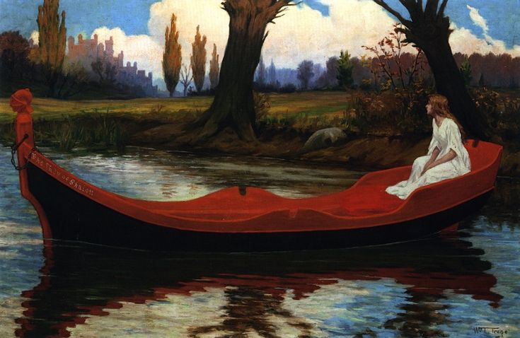 William Trego - The Lady of Shalott,1905 | Art : Mythology | Pinterest