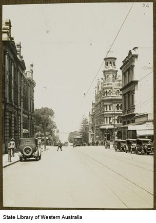 Barrack Street, Perth, 1928.
