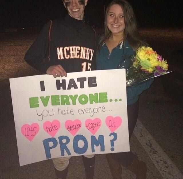 Lol funny prom idea, I'd say yes                                                                                                                                                                                 More