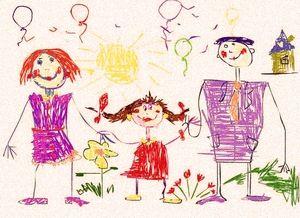 Детский рисунок Моя семья