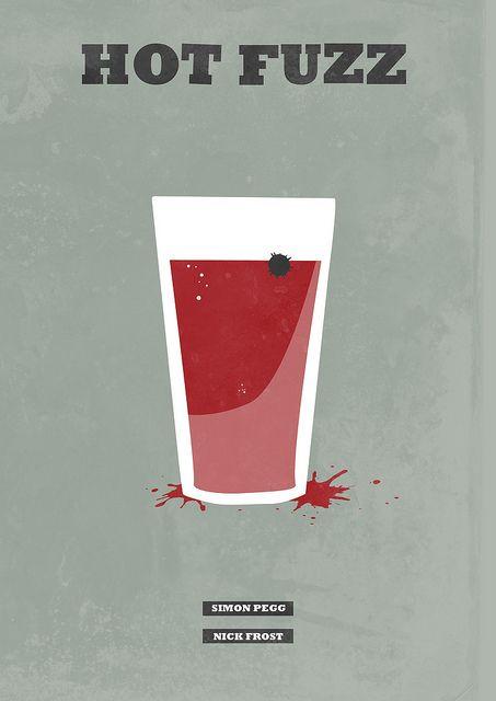 Hot Fuzz - minimal movie poster - H. Svanegaard