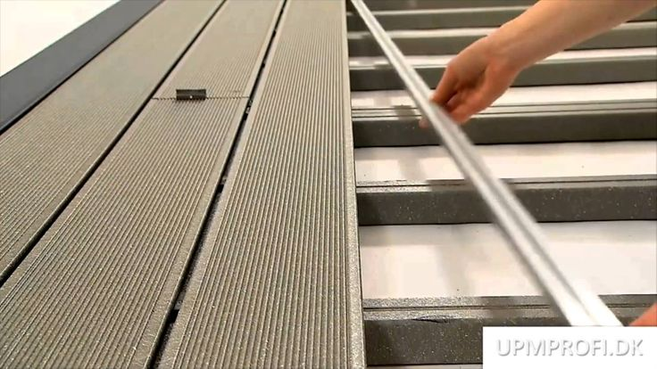 Hvordan monteres UPM ProFi Deck kompositplanker riktig. Se videoen eller læs mere om installation på www.upmprofi.dk/montering