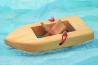 Boat with Elastic Band Motor Fun!