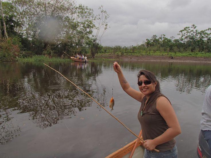 Piranha fishing in the #Amazon with our Travel Advisor Silvana