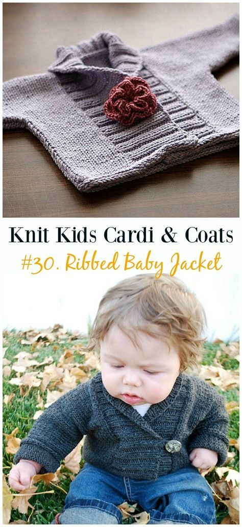 Kids Cardigan Sweater Free Knitting Patterns Projects To Try