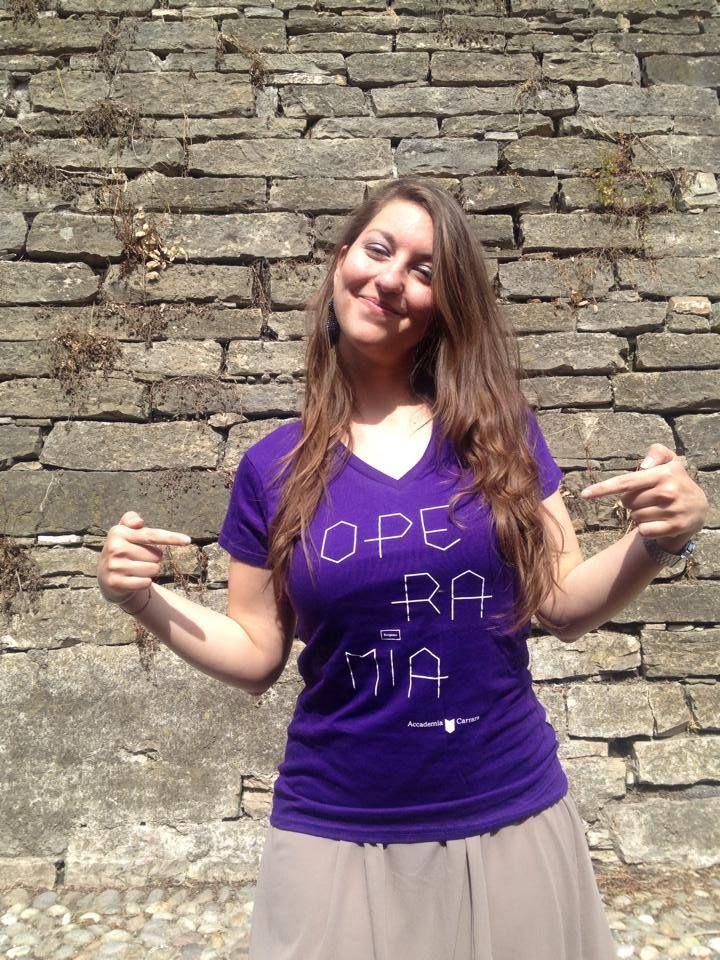 Silvia, contributor with #operamia t-shirt crowdfunding projoct 2014