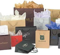 "Euro Kraft Paper Gift & Shopping Totes w/ Rope Handle (13""x5""x10"")"