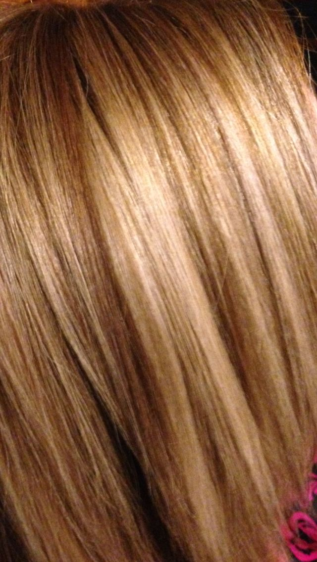 Multi Blonde Foils With Brown Copper Lo Lights Hair