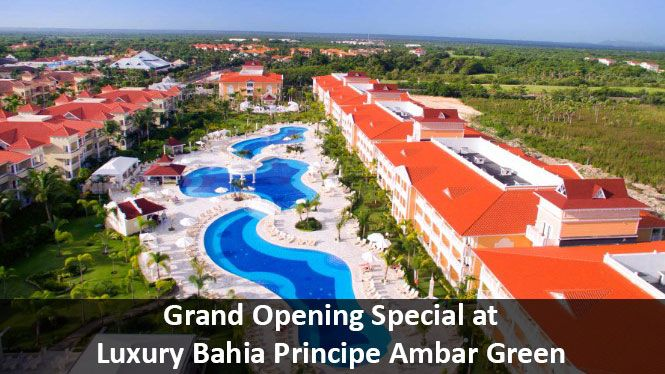 Grand Opening Special at Luxury Bahia Principe Ambar Green - https://traveloni.com/vacation-deals/grand-opening-special-luxury-bahia-principe-ambar-green/ #puntacanavacation #caribbeanvacation