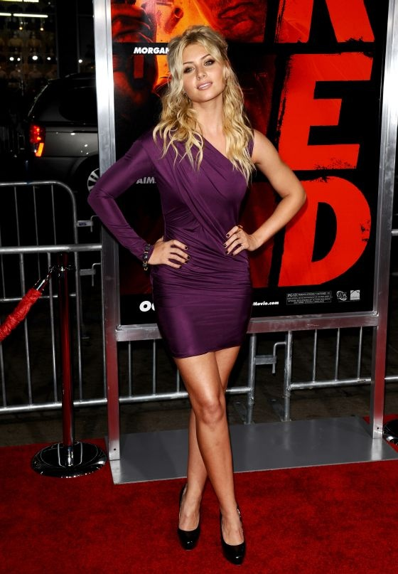 Aly Michalka Red Legs