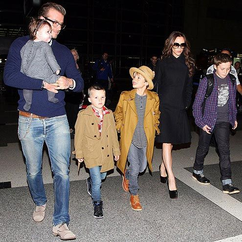 David and Victoria Beckham and family.. Picture perfect!