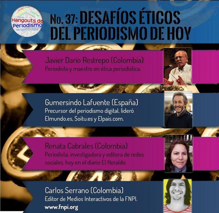 Hoy a las 4 p.m, hora de Colombia, zumbará el moscardón. Participa en la charla en red que convoca Hangouts de Periodismo:  https://plus.google.com/events/ccrceau57ut905m8oij0uj9c3i4