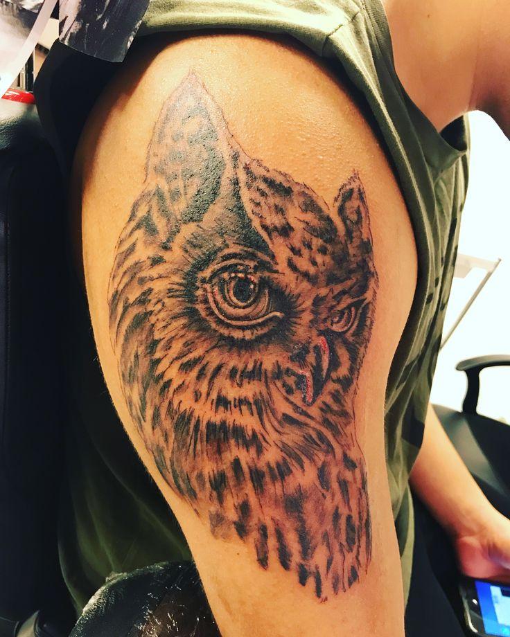 Owl uggla tattoo malafama ink