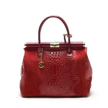 Kožená kabelka Anna Luchini 825 Rosso | Bonami