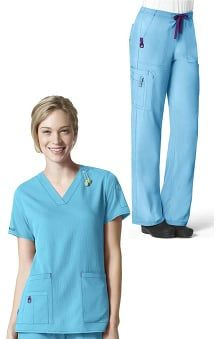 e0049c52919 CROSS-FLEX by Carhartt Women's V-Neck Media Solid Scrub Top ...