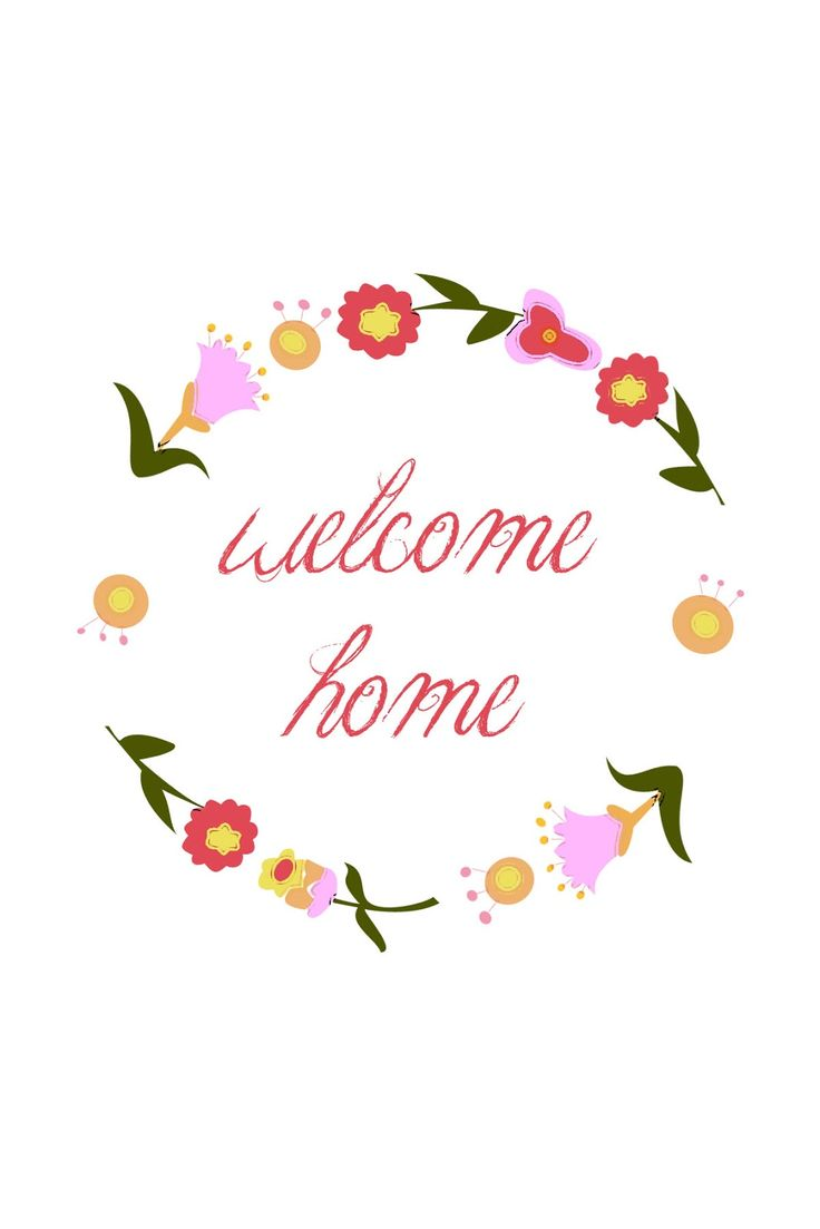 welcome home printable - Sugar Bee Crafts