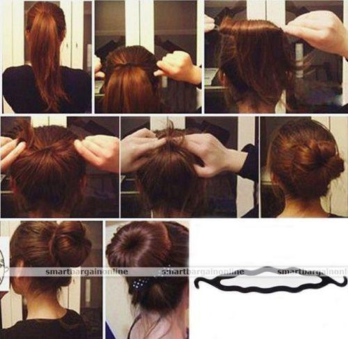 Damen-Haare-Hairstyling-Twister-Bun-Hair-Styling-Frisurenhilfe-Dutt-Kissen