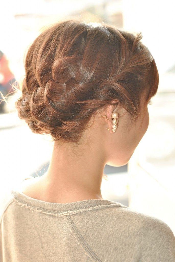 大人風編み込みアレンジ。女性の編み込みヘア参考一覧♡