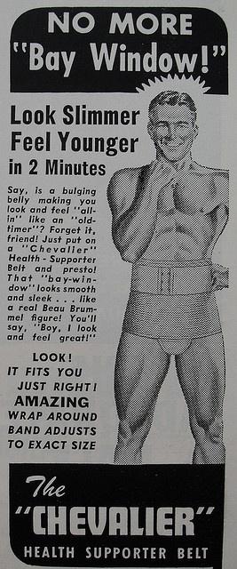 1950s man athletic supporter vintage briefs jock underwear man CHEVALIER supporter belt vintage illustration advertisement by Christian Montone, via Flickr
