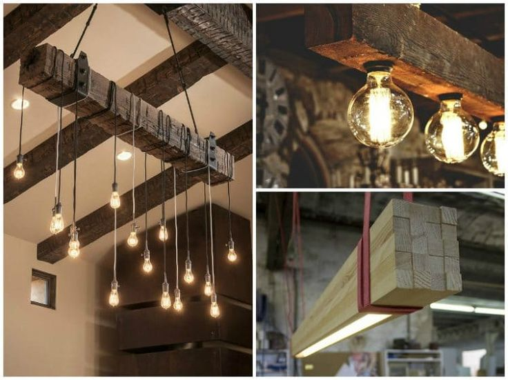 Look at these nice reclaimed wood beams chandelier ideas and get some inspiration. Great in a vintage decor or kitchen with farmhouse style!