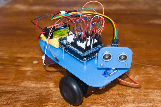 Picture of James - Your first Arduino Robot - awww! So cute! Who knew learning could be this much fun?