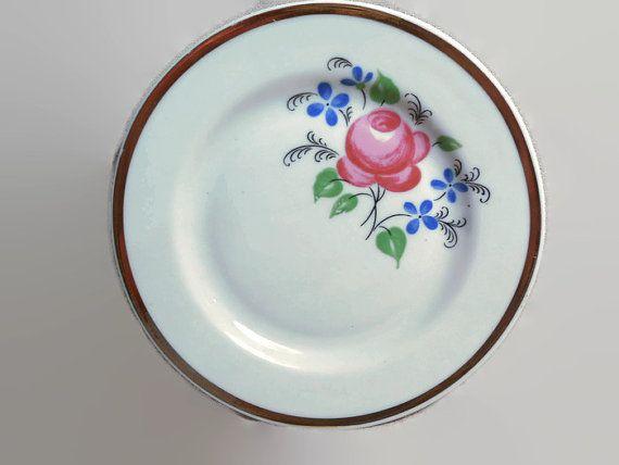 Советский винтаж тарелки для салатов и вторых от zemfiradesign